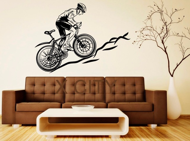 Sport Bicycle Mountain Bike Cool Decal Wall Vinyl Sticker Home Interior  Removable Bedroom Decor 57 X 78cm
