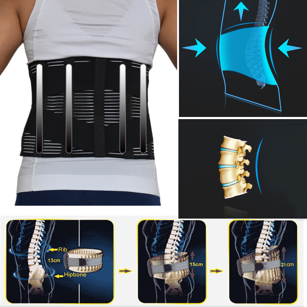 New Elastic Adjustable Orthopedic Posture Corrector Brace Lower Back Waist Trimmer Belt Lumbar Support Belt Corset For Men Women