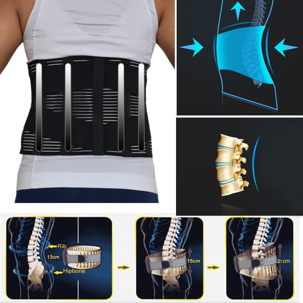 Nuevo elástico ajustable ortopédicos Corrector de postura Brace bajo la cintura cinturón de soporte Lumbar corsé para hombres y mujeres