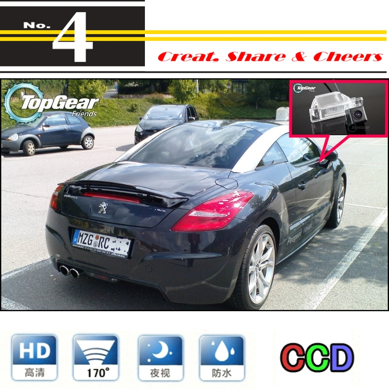 Liislee High Quality Rear View Back Up Camera Car Camera For Peugeot RCZ 2009~2015 For PAL / NTSC | CCD + RCA