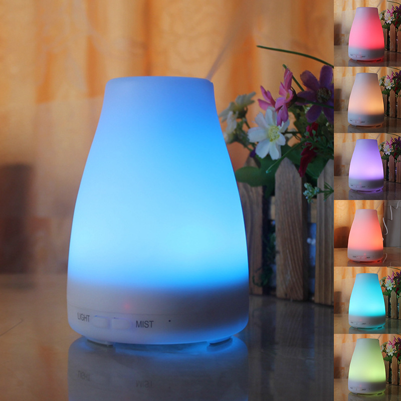 100ML Mini Aromatherapy Essential Oil Diffuser 7 Color Changing LED Light Ultrasonic Air Humidifier Home Office Desktop Diffuser hot sale humidifier aromatherapy essential oil 100 240v 100ml water capacity 20 30 square meters ultrasonic 12w 13 13 9 5cm