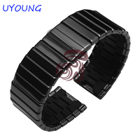 19mm24mm27mm Ceramic Watchband High Quality Ceramic Strap Bracelet Fine Steel Buckle With