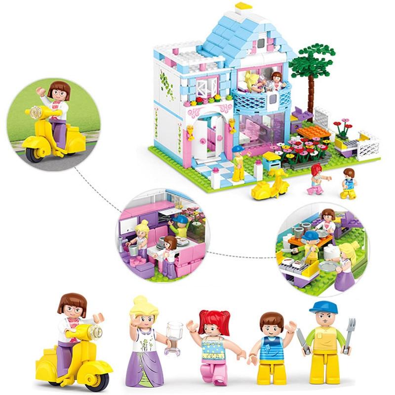 Miniature Bricks Dollhouse Nursery Toy Doll Construction Set Building Blocks