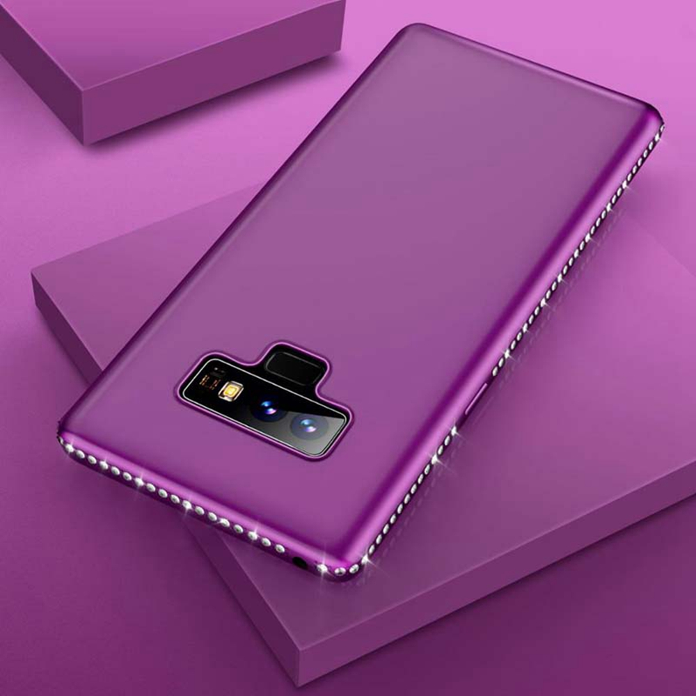 Rhinestone Silicone Samsung Galaxy Note 9 Case S9 Plus S8 Plus Note 8 Cover For Galaxy Note 9 Note9 Coque S7edge