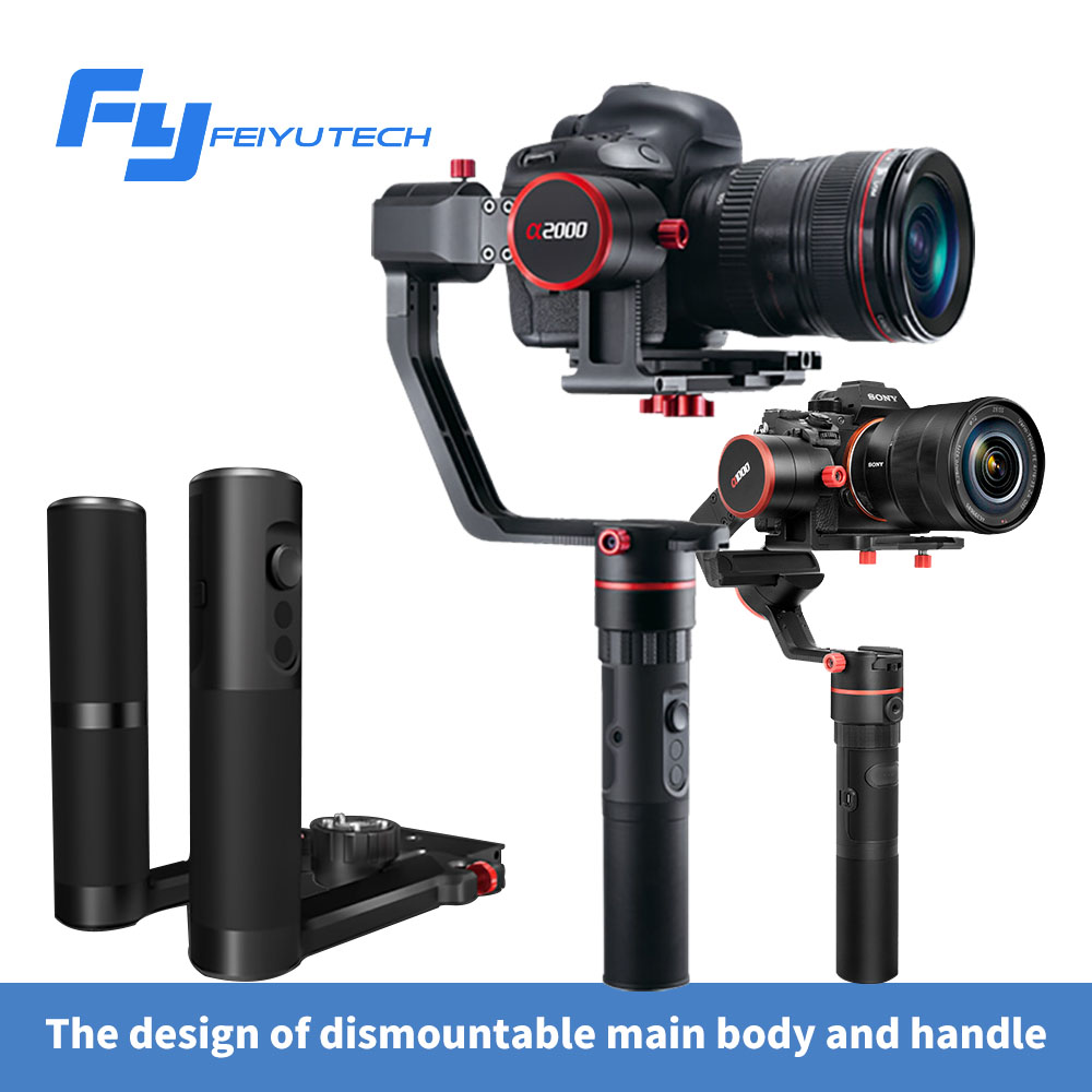 FY A1000/A2000 3-Axis Gimbal DSLR Camera Stabilizer Dual handheld grip for a6500 a6300 iPhone Canon 5D/SONY Panasonic 2000g sony a6500