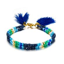 цена на 2019 Bohemian Colorful Beads Tassel Pendant Anklet for Women Fringe Multilayer Anklets Bracelet Foot Jewelry Hot Cool