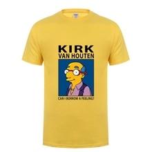 09bed4db3 Comic Anime KIRK VAN HOUTEN T shirt men Can I Borrow A Feeling T-shirt