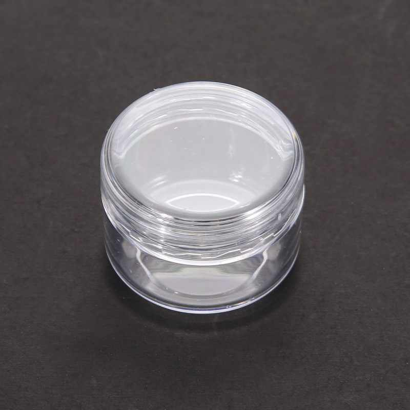 5Pcs Mini Cosmetic Empty Jar Pot Eyeshadow Makeup Face Cream Container Nail Art Cosmetic Bead Storage Pot Container Massage