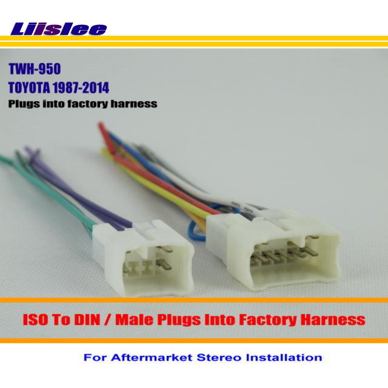 Liislee For TOYOTA 1987 2014 Male ISO Radio Wire Cable Wiring ...