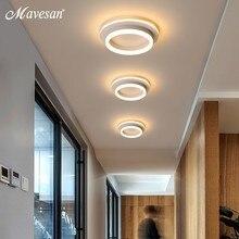 Luz LED de araña para pasillo, lámpara de techo acrílica montada en superficie de pasillo, luz de fondo moderna de 20W, Lustres, Lampadario AC85-260V