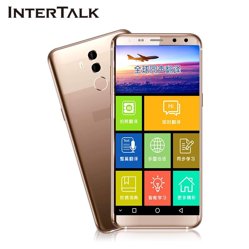 Intertalk S089 plus voice translator 5.7 handwriting Color touch screen Photo interpreter cell phone call Voice translation