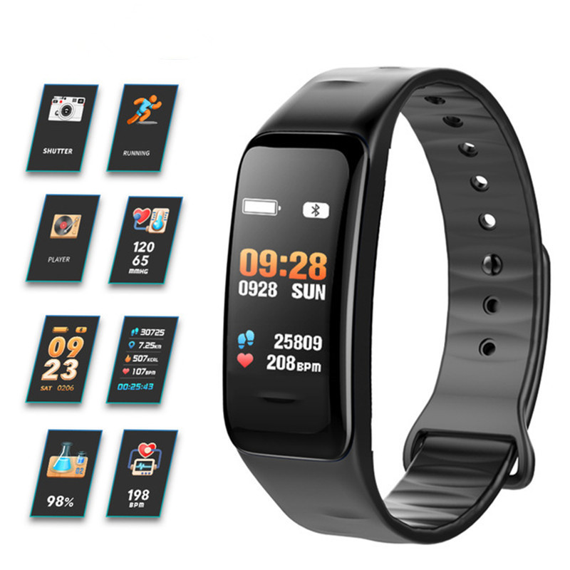 Fitness Smart Watch Men Color Screen Smart Watch Wristband Heart Rate Blood Pressure Monitoring Bluetooth Sports Smart Bracelet цена