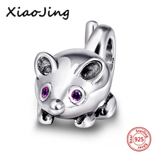 hot deal buy cute mouse charm beads jewelry making 925 silver charms fit authentic european charm bracelet beads diy jewelry making for gifts