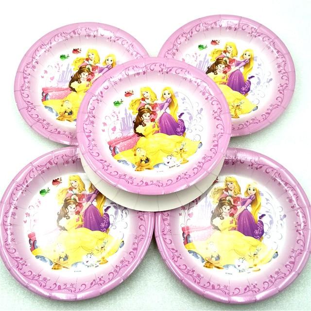 6pcs/bag Disney Princess Cartoon Theme Paper Plates Party For Kids Happy Birthday Decoration Theme  sc 1 st  AliExpress.com & 6pcs/bag Disney Princess Cartoon Theme Paper Plates Party For Kids ...