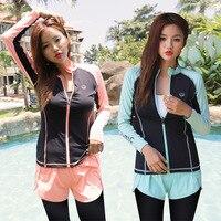 Rush Guard For Women Womens Surf Suit Korean Swimsuit Swimwear Suits Bath Woman Kitesurf Tong Korea Ins Long Sleeve Trousers