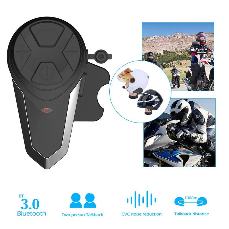 S3 1000M Helmet Intercom Headset Motorcycle Bluetooth Interphone Handsfree FM Radio Waterproof BT Intercom Interphone