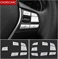 CNORICARC Автомобильный руль кнопки декоративный чехол с блестками Накладка для BMW 1/2/3/4/5/7 серии 3GT 5GT X1X3X5 Хром ABS