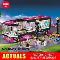 Adventure Series Girls Friend 10407 Girl Princess Friends Pop Star Touring Bus Building Blocks toys Birthday Gifts Legoes GK30
