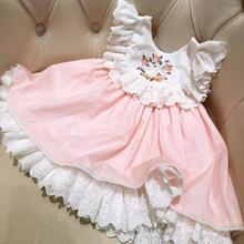 8ed9a19bc4631 1-5 ans filles princesse robes pour enfants bébé dentelle gilet robe d été  enfant fille espagnol robes infanti partie d annivers.