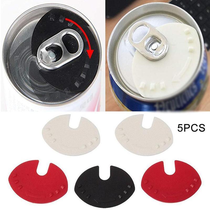 5pcs Beer Can Cover Useful Beverage Can Lid Sealer Cap Soda Beverage Drink Snaps Tops Flip Protector Snap Color Random