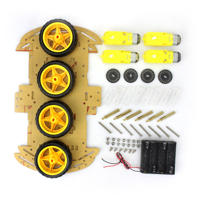 4WD Smart Robot Car Chassis Kit With Speed Encoder