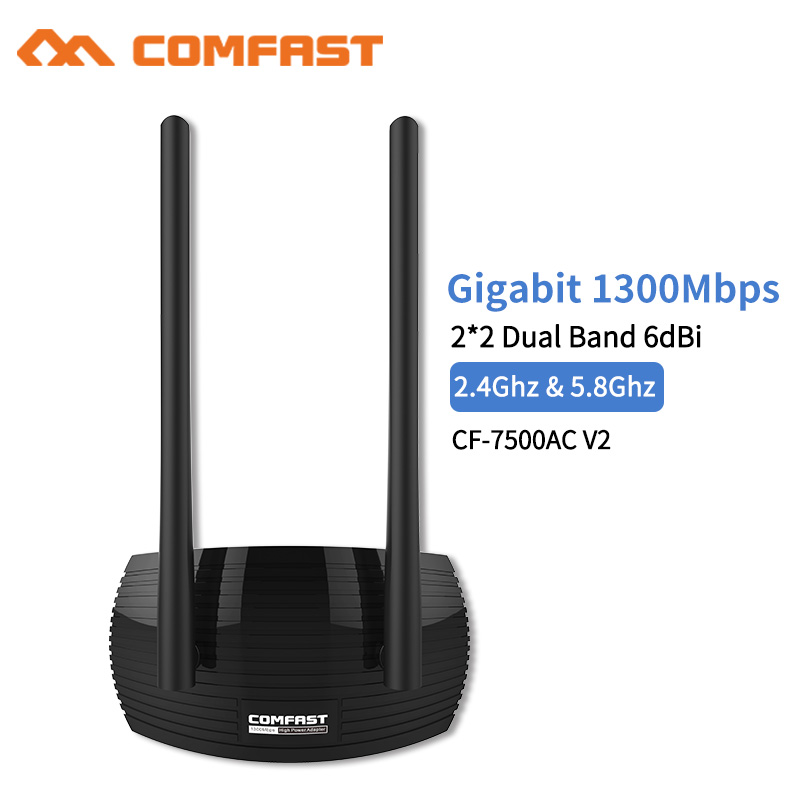 1300Mbps High Speed Stong Signal Gigabit USB3.0 Wireless Network Wifi Card 2*2 dual Band 6dbi Antennas High Power Wifi Adapter1300Mbps High Speed Stong Signal Gigabit USB3.0 Wireless Network Wifi Card 2*2 dual Band 6dbi Antennas High Power Wifi Adapter