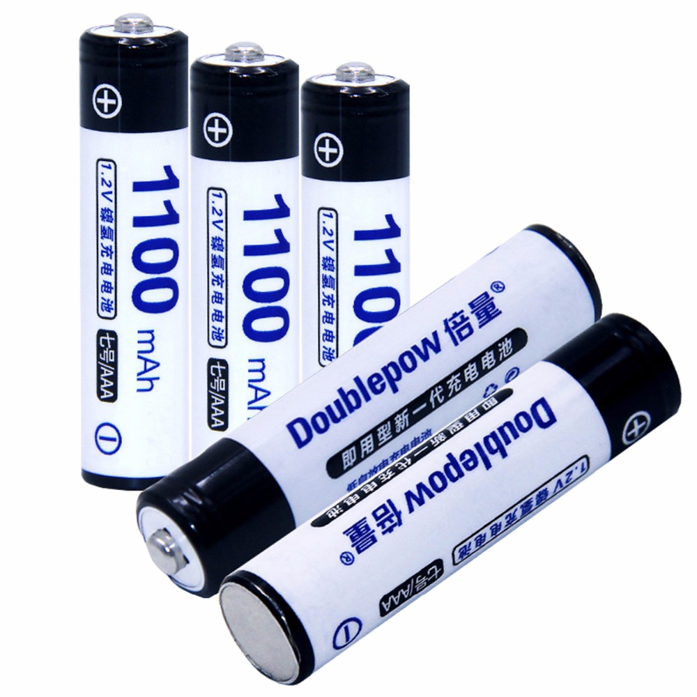 True capacity! 5pcs AAA 1.2V NIMH AAA rechargeable batteries 1100mah for camera razor toy remote control flashlight 3A batterie