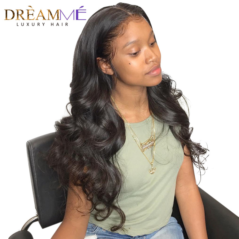 13x6 Lace Front Human Hair Wigs For Black Women With Baby Hair Pre Plucked Brazilian Lace