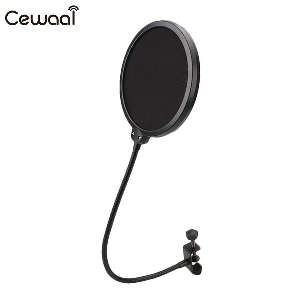все цены на Cewaal Black Flexible Studio Microphone Windshield Mic Pop Filter Shield Microfone Speaker microfono Accessories онлайн