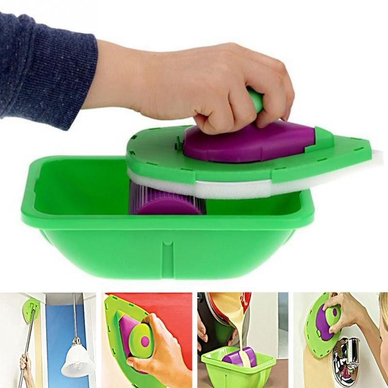 Home Use Paint Roller And Tray Set Painting Brush Pad Pro Point N Household Wall Decor Tool Multi Function