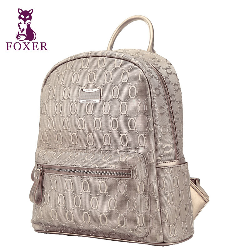 gold Genuine leather Backpack 2015 new women bag top quality Genuine leather bag fashion brand women bag