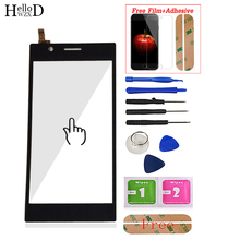 5.5inch For Lenovo K900 Touch Screen Glass Digitizer Panel Front Glass Lens Sensor Flex Tools Adhesive + Screen Protector Gift