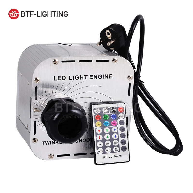 32W Twinkle Flash RGBW LED Fiber Optic Light engine 28key RF remote in sky stars,Multi-colored lights flashing beads+wheel 2016 newest touching panel controller 16w rgbw led optic fiber light engine 150pcs 0 75mm 2meter optic fiber diy light