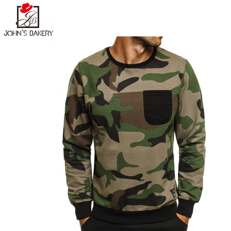 2018 New Hoodie Men Digital Camo Fleece Hip Hop Sweatshirt Fashion Mens Hoodies Brand Autumn Cotton pullover Male Hoody