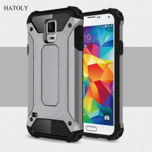 цена на For Cover Samsung Galaxy S5 Case Anti-knock Rugged Armor Cover For Samsung S5 Silicone Phone Bumper Case For Samsung S5 G900F