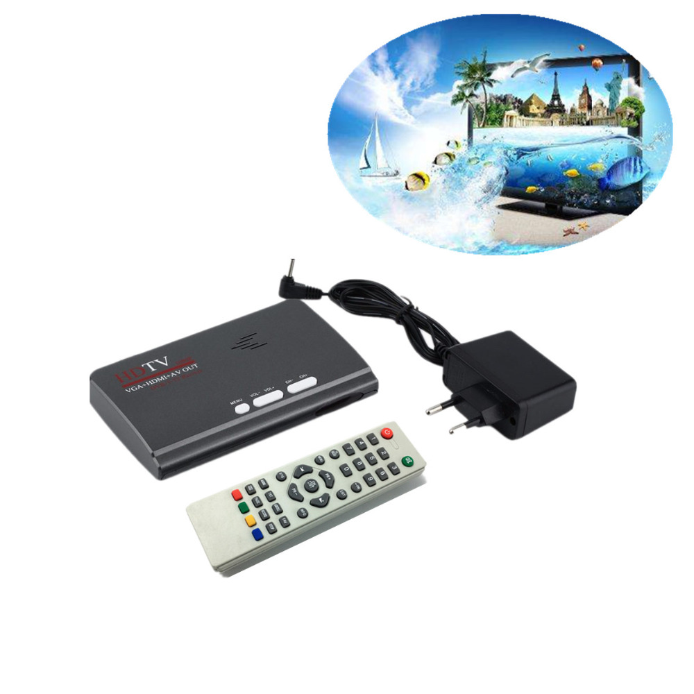 LNOP DVB-T DVB-T2 reveiver Digital Terrestrial HDMI 1080P DVB-T DVB-T2  VGA AV CVBS TV Tuner Receiver With Remote Control mini hd dvb t2 terrestrial digital tv receiver support 3d black