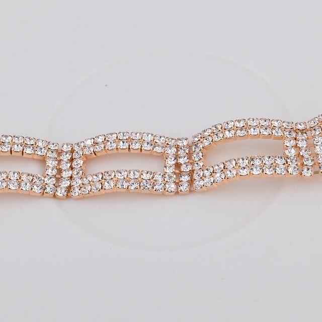 toucheart роскошный бренд золотые кристаллы регулируемые браслеты фотография