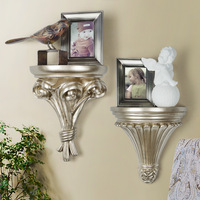 Gold Pastoral Art Wall Hanging Holder European Standard Wall Tray Decorative Display Shelf for Picture Living Room/hotel Supply