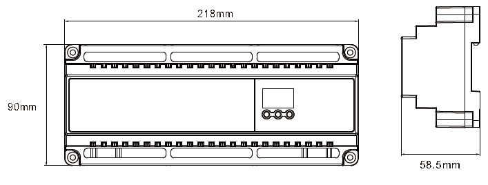 Новый светодио дный DMX512 декодер Постоянное напряжение DC 12В-24 В 5A * 24CH выход светодио дный дисплей DIY Установка Адрес RJ45 24 каналов Декодер DMX