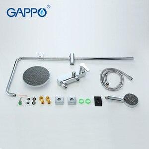 Image 4 - GAPPO banyo duş musluk seti küvet mikseri musluk banyo yağmur biçimli duş musluk banyo duş başlığı paslanmaz duş bar GA2402