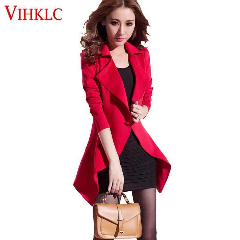 afa5de81009 2018 autumn women blazers with dress plus size tight suit 2 pieces ladies  casual foldable coats
