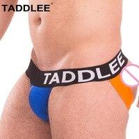 Taddlee Marke herren Jockstraps Unterwäsche Homosexuell Penis Baumwolle Jock Straps Slip Bikini Niedrigen Taille Backless Gesäß G Strings Thong