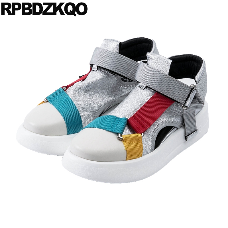 trainers muffin elevator metallic thick sole breathable hollow out women harajuku silver sneakers creepers platform shoes women creepers shoes 2015 summer breathable white gauze hollow platform shoes women fashion sandals x525 50