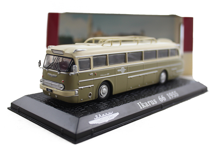 Special Out of print 1:72 ATLAS IKARUS alloy bus model 66-1955 Original model Collection model