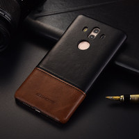 Luxury Brand Thin Vintage Genuine Leather Back Cover Case For Huawei Mate 10 Pro Phone Cases