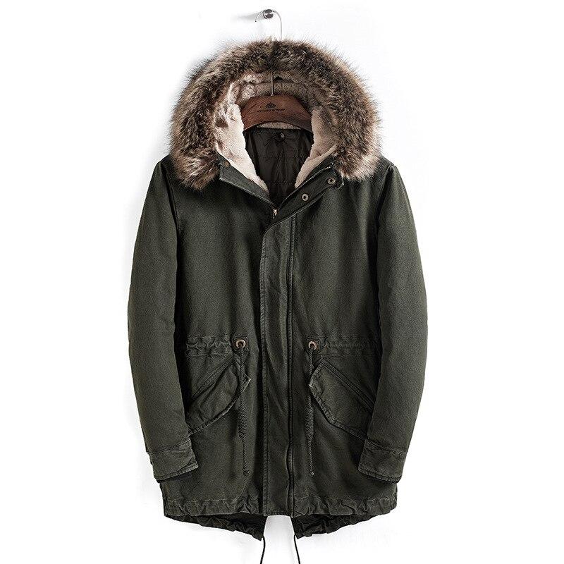 Snowclass2018 winter models men fashion lapel warm business casual hair collar jacket cotton tide European trend