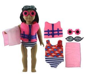 1 комплект, кукольная одежда для 18 дюймов, американская кукла, ручная работа, модная Милая одежда X01