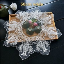 2 Models Exquisite Embroidered European-style Pallet Coaster Fabric Placemat Tea Fruit Plate Pad Dining Coffee Table Cloth Mat
