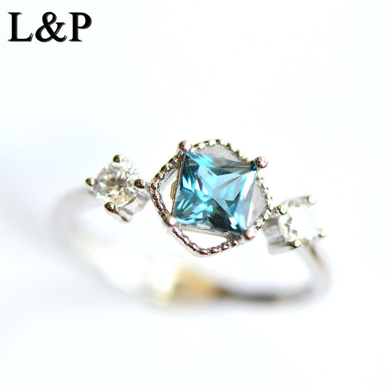 New Fashion Natural Topaz 925 Pure Silver Rings for Women Girl Handmade Gemstone Wedding Ring Fine Silver Jewelry AccessoriesNew Fashion Natural Topaz 925 Pure Silver Rings for Women Girl Handmade Gemstone Wedding Ring Fine Silver Jewelry Accessories