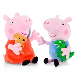 2pcs 19cm Peppapig Pink PePa And George Pig Stuffed&Plush Doll Kid&Baby Toy Gift